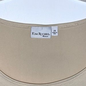 Kim Rogers Tops - 'KIM ROGERS' T-shirt WOMENS sand color